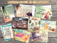 10 verschiedene Spruchkarten mit Fotomotiv, Lebensweisheiten, Sprüche