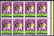 Thematics. Sports. World Cup Football. Munich 1974. Romania. Block of 8.