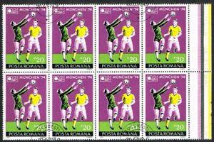 Thematics. Sports. World Cup Football. Munich 1974. Romania. Block of 8.