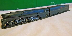 Model RR-HO Gauge-Pennsylvania -4-4-4-4 Steam Locomotive-Mfg Unknown-Runs Fine
