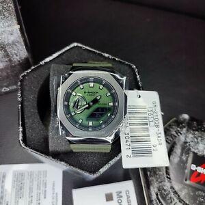New CASIO G-SHOCK GM-2100B-3A Men's Watch Metal Covered CasiOak Green DHL*FEDEX