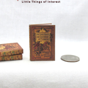 1:6 Scale The LANGUAGE Of FLOWERS Miniature Playscale Readable Miniature Book.