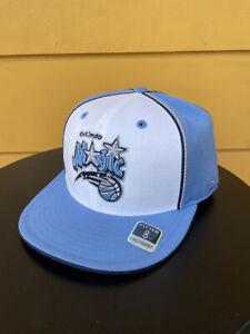 NEW REEBOK ORLANDO MAGIC FITTED HAT CAP RETIRED LOGO NBA HEADWEAR BABY BLUE