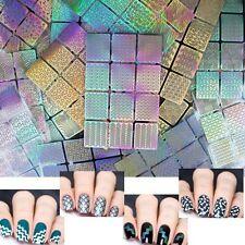 2Pcs Neuf Pochoirs vinyle Autocollant Stickers manucure française ongle Nail Art