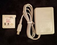 New Nintendo 3DS Charger & Imagine: Fashion Designer Video Game Cartridge Only