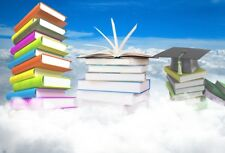 Vinyl 7x5 Book Mountain Backdrop White Clouds Background Photography Studio Prop