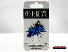 Skeleton Man Soft Enamel Black Metal Lapel Pin Yesterdays Brand New MOTU