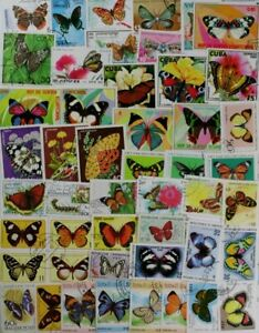 BUTTERFLIES, breathtaking collection of 500 different stamps, Nice! (lot#DP)