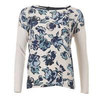 WEEKEND MAX MARA Sweater Beige Blue Floral RRP £149 BG