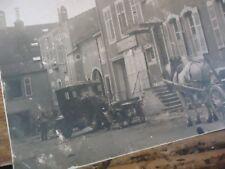 LORRAINE 2 CPA VILLAGE LORRAIN AUTOMOBILE GARAGE CHARRUE LES TRANSPORTS 1910