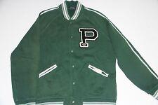 Polo Ralph Lauren Men Green Football Dog Varsity Jacket New York XLarge XL