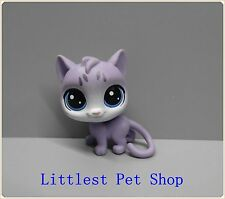 Cute lps Littlest  Pet  cat  w blue eyes figure #l99