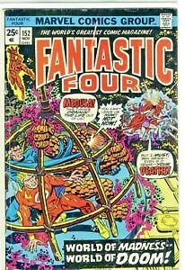 Marvel Comics Fantistic Four #152 World of Madness World of Doom