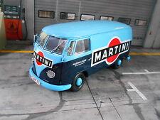 VOLKSWAGEN VW Bus T1b 1 B Transporter Martini blau blue 1959 - 1963 Schuco 1:18