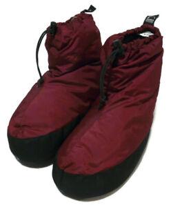 Sierra Designs Dark Red Womens Size Large Duck Down Winter Snow Boot SLIPPERS