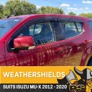Superior Weather shields for ISUZU MU-X Window Door Visors 2012+ MUX