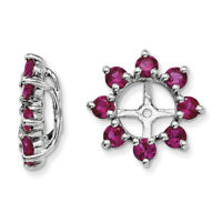 Sterling Silver Created Ruby Earring Jacket QJ116JUL