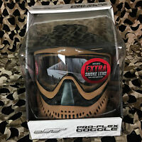 NEW JT ProFlex Thermal Paintball Mask - 2.0 LE Black/Brown + Extra Thermal Lens