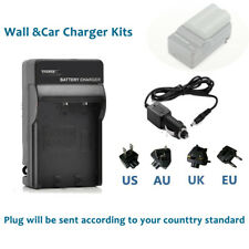 Battery Wall/Car Charger for Nikon EN-EL3e MH-18a & Nikon D90 D80 DSLR Camera