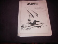 Raider Twin Track Snowmobile Double-Eagle Hawk Parts Diagram Schematic Manual