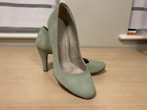 Next Duck Egg Blue Suede Heel Size 4 Shoes