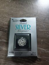 COUSIN D.I.Y COUSIN SILVER PLATE ELEGANCE CLOSED JUMP RING 30PCS. JEWELRY MAKING