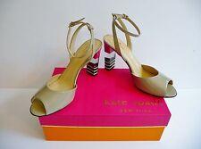 """Kate Spade NY NIB """"Ibezia"""" Beige Striped Heels Sandals Size 9B Retail $348."""