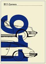 Porsche 911 (B) Poster Print A3