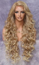 Extra Long Lace Front Wig Full Beautiful Curls Blonde mix Heat OK WBPR 27/613