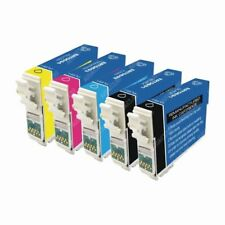5-Pk/Pack 126 T126 Reman Ink for Epson Workforce 545 630 635 645 845 3520 3540