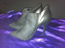 SEXY NOVO BLACK LEATHER ANKLE BOOTS  SIZE: 37