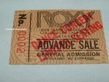 BLACK 'N BLUE 1984 GLOBE Concert Ticket Stub THE ROXY L.A. Kiss MEGA RARE Malice