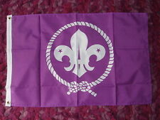 Scouts Purple Flag 2x3 Explorer Scouting Camps Activity Boys Girls Camping