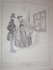 Phil May Obviously An Ommission 1902 old cartoon print