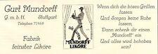 Mundorff liqueur Stuttgart Ober Serveur Publicité 1925 (N)