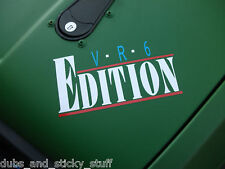 VR6 Edition sticker.For VW mk2,3 golf GTi,Jetta,corrado