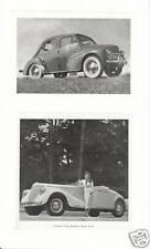 Publicité Ancienne  Voiture 4 CV Cabriolet