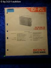 Sony Service Manual ICF P2L 4 Band Receiver (#3091)