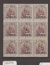 Malaya Jap Oc Perak SG J276(8)+J276b block of 9 MNH, few split perfs (1daf)