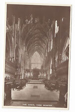 UK York Minster Cathedral Choir RPPC Raphael Tuck Real Photo Postcard