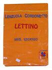 LENZUOLO SOPRA LETTINO COTONE 120X180 CM TINTA UNITA 6 COLORI DISPONIBILI