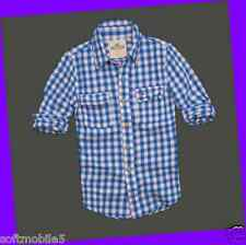 Hollister Co. LARGE L Mens WHITE, BLUE & RED CHECK Tamarack Twill Shirt