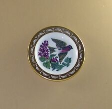 State Birds and Flowers Miniature Plate New Hampshire Purple Finch Lilac
