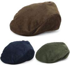 Flat Cap Hat Corduroy Country Driving Hawkins Men Ladies BLUE GREEN BROWN