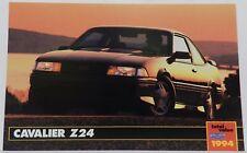 Z24 CAVALIER SHOWROOM NOS PROMO 1994 94 CHEVY DEALER DEALERSHIP POSTCARD