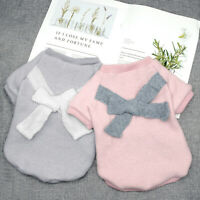 Pink Grey Knitted Dog Jumper for Girl Dog Knitwear Puppy Cat Clothes Pet Sweater