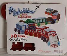 Create Celebrate 3D Train Cupcake Mold Silicone Cake Pan