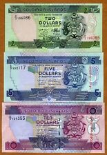 SET Solomon Islands, $2;5;10 ND (1997-2009), P-18-26-27 UNC