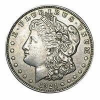 1921 Silver Morgan Dollar VG+