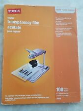 Staples Copier Tranparency Acetate Film 100 Sheets Free Shipping